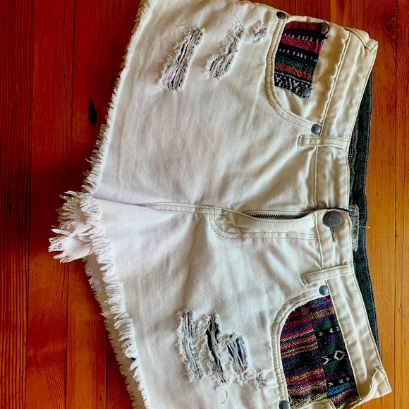 Free People Daisy dukes w/ South American inlays.